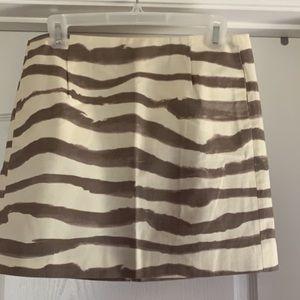 """J Crew """"zebra"""" skirt. NWOT. Size 4"""